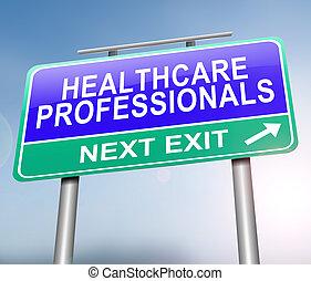 profesionales, concept., atención sanitaria