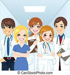 profesionales, equipo médico