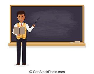 Profesor africano enseñando en clase