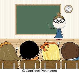 Profesor en la sala de clases