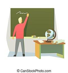 Profesor en una clase
