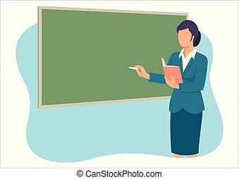 Profesor enseñando en frente de la sala de clases