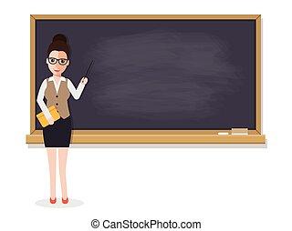 Profesor senior enseñando en clase