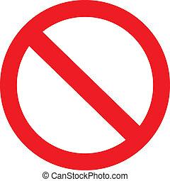 prohibición, señal