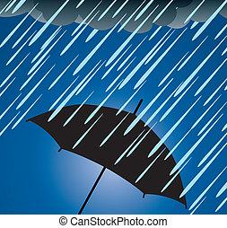Protección de paraguas de la lluvia fuerte