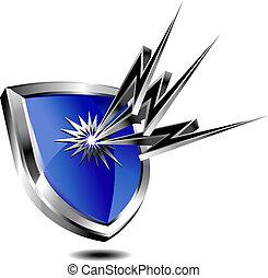protección, protector, relámpago