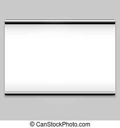 Proyector de pantalla blanca de fondo limpio