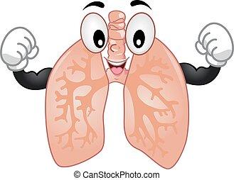 Pulmones de mascota fuertes