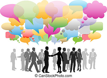 red, empresa / negocio, medios, compañía, discurso, social, burbujas