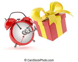 regalo, reloj, alarma