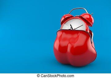 reloj, bolsa, alarma