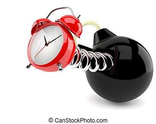 reloj, bomba, alarma