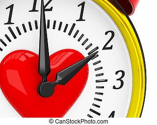 Reloj de alarma 3D con corazón
