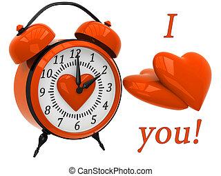 Reloj de alarma 3D con corazones