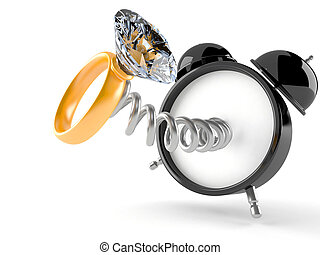 Reloj de alarma con anillo