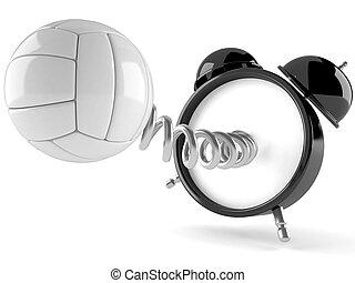 Reloj de alarma con voleibol