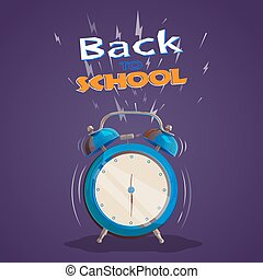 Reloj de alarma de vuelta a la escuela
