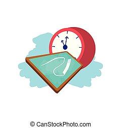 Reloj de reloj de tiempo con clase de tablero