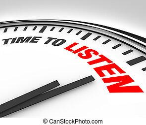reloj, -, entender, palabras, tiempo, oír, escuchar