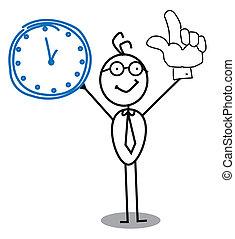 reloj, hombre de negocios