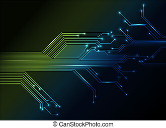 resumen, circuito electrónico, plano de fondo