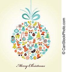 Retrocedan el pasado navideño con la pelota de Navidad