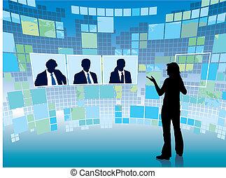 reunión, virtual