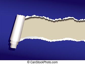 Rizo de papel azul