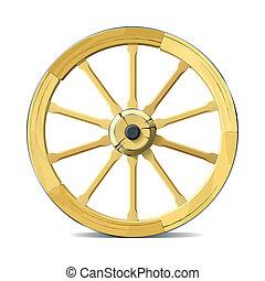 rueda, vagón