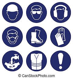salud, seguridad, iconos