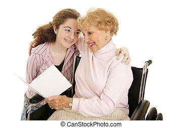 Saludos para la abuela