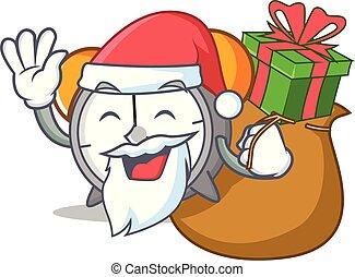 Santa con dibujos animados de la mascota del despertador