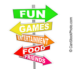 señalar, entretenimiento, actividad, diversión, señales, direcciones
