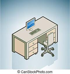 silla, escritorio de oficina