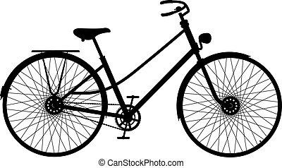 Silueta de la bicicleta retro