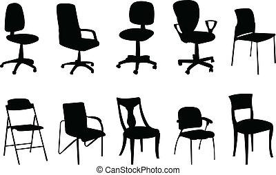 Silueta de sillas
