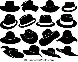 sombreros, ilustración