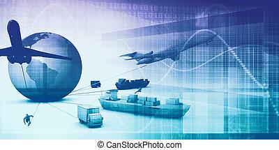 suministro, cadena, analytics