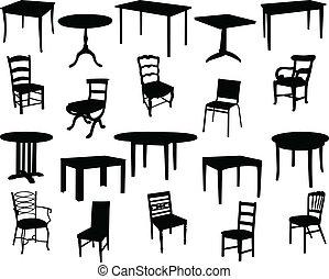 Tables y sillas