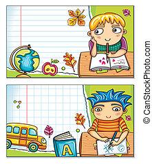 Tarjetas escolares 1