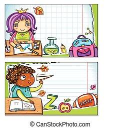 Tarjetas escolares 2