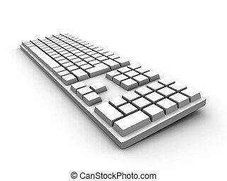 teclado, -, blanco