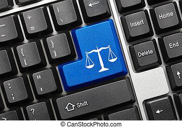 Teclado conceptivo - símbolo de la ley (llave azul)