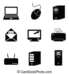 tecnología computadora, iconos