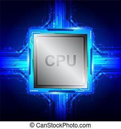 tecnología computadora, procesador