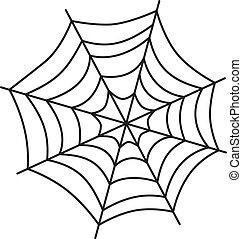 tela, arte, araña