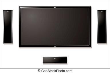 Televisión LCD con altavoces