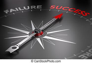 Ten éxito, el éxito contra el fracaso