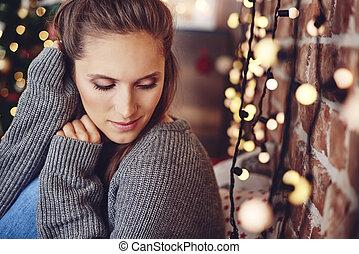 Tiempo de Navidad pasando en la soledad