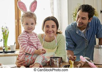 tiempo de pascua, familia feliz